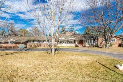 Cherry Hills Village Single Family Home Under Contract: 2950 East Stanford Drive