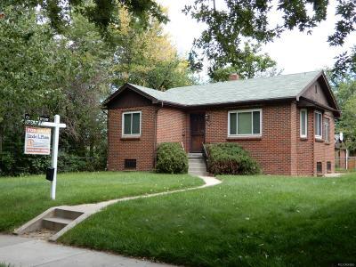 Denver Single Family Home Active: 4250 King Street