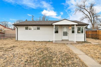 Commerce City Single Family Home Under Contract: 6571 Porter Way