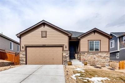 Castle Rock Single Family Home Under Contract: 7809 Bandit Drive