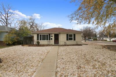Denver Single Family Home Active: 1175 Leyden Street