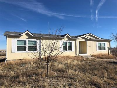 Deer Trail Single Family Home Active: 6250 South County Road 213