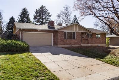 Denver Single Family Home Active: 8446 East Lehigh Avenue