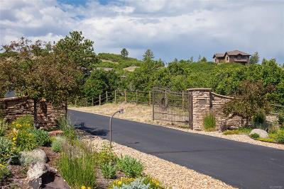 Castle Rock CO Single Family Home Under Contract: $2,500,000