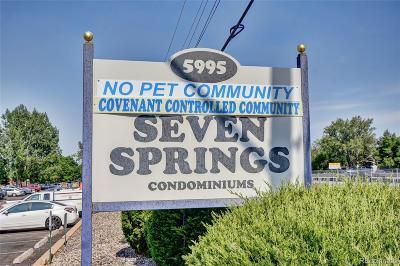 Condo/Townhouse Sold: 5995 West Hampden Avenue #11