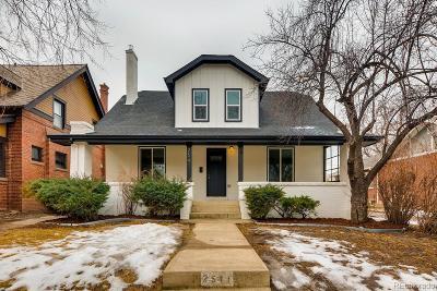 Denver Single Family Home Sold: 2541 Eudora Street