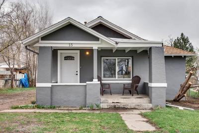 Denver Single Family Home Under Contract: 15 Grove Street