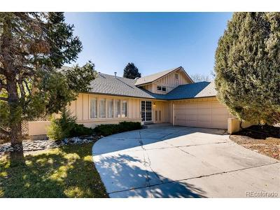 Centennial Single Family Home Under Contract: 6580 South Heritage Pl W