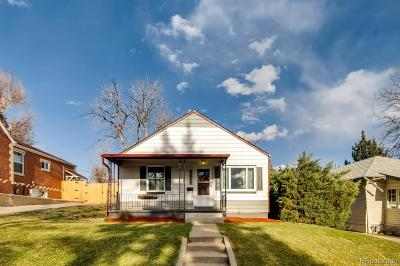 Denver Single Family Home Under Contract: 4838 Stuart Street