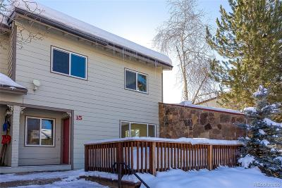 Steamboat Springs Condo/Townhouse Under Contract: 15 Cypress Court
