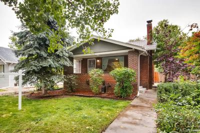 Denver Single Family Home Active: 1630 Garfield Street