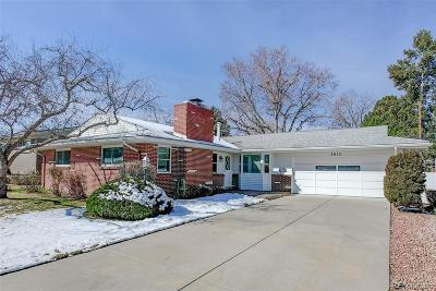 Denver Single Family Home Active: 3015 South Gaylord Street