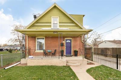 Denver Single Family Home Under Contract: 4576 Shoshone Street