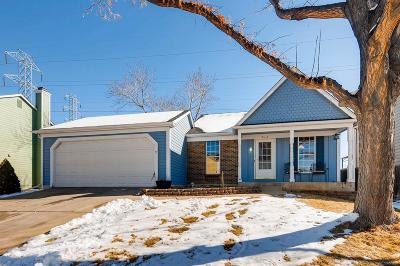 Aurora CO Single Family Home Under Contract: $325,000