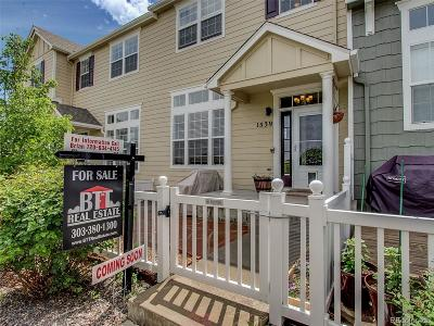 Castle Rock Condo/Townhouse Under Contract: 1539 Dawson Butte Way