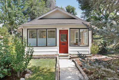 Longmont Single Family Home Under Contract: 42 Marshall Place