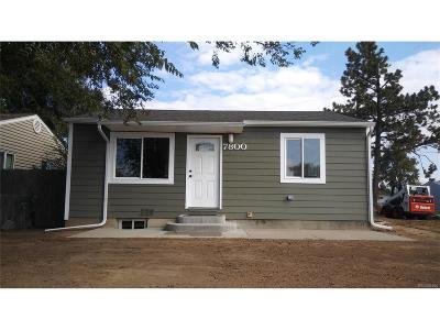 Commerce City Single Family Home Under Contract: 7800 Niagara Street