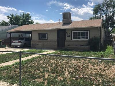 Commerce City Single Family Home Under Contract: 6671 Clermont Street