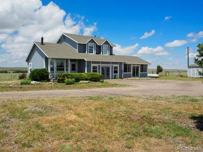Kiowa CO Single Family Home Active: $750,000
