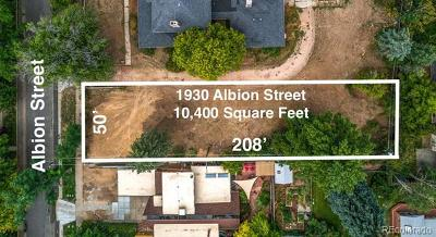 Denver Residential Lots & Land Active: 1930 North Albion Street