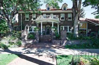 Denver Single Family Home Active: 3309 East 7th Avenue Parkway
