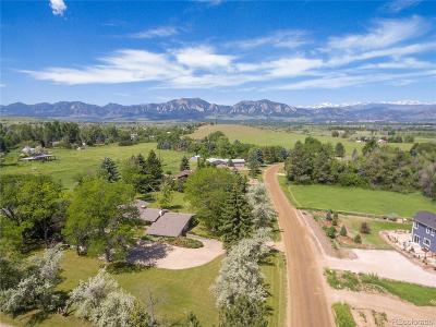 Boulder CO Single Family Home Active: $899,999