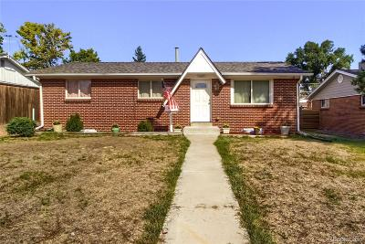 Westminster Single Family Home Under Contract: 7690 Irving Street