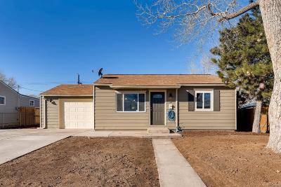 Commerce City Single Family Home Under Contract: 7921 Newport Street