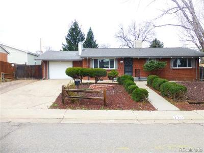 Arvada Single Family Home Under Contract: 7711 Teller Street