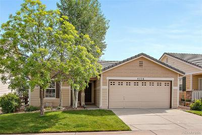 Castle Rock Single Family Home Under Contract: 4226 Beautiful Circle