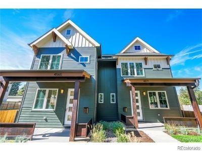 Denver Condo/Townhouse Active: 4550 Stuart Street