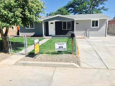 Commerce City Single Family Home Under Contract: 7496 Leyden Street