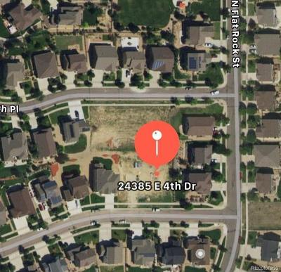 Arapahoe County Residential Lots & Land Active: 24385 East 4th Drive