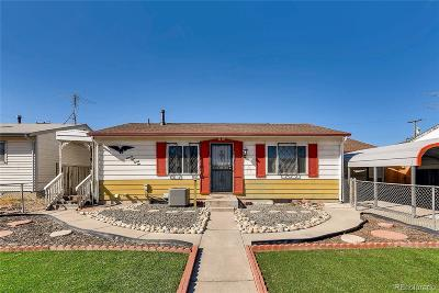 Commerce City Single Family Home Under Contract: 7821 Kenwood Street
