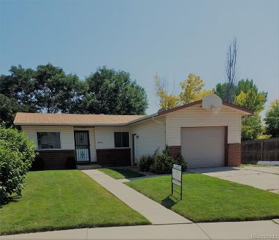 Longmont Single Family Home Under Contract: 1852 Lincoln Drive
