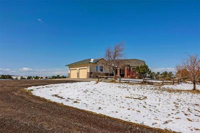 Elbert County Single Family Home Under Contract: 42052 Pearson Ranch Loop