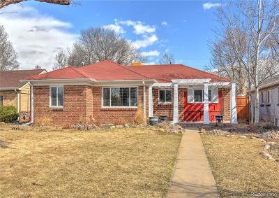 Denver Single Family Home Under Contract: 2880 Krameria Street