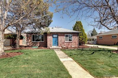 Denver Single Family Home Active: 4870 Harlan Street