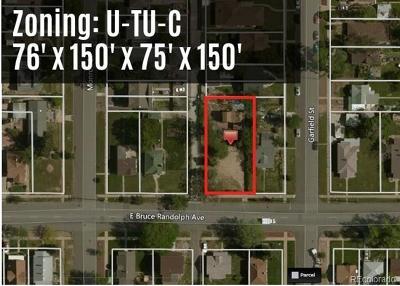 Denver Residential Lots & Land Active: 3631 Bruce Randolph Avenue