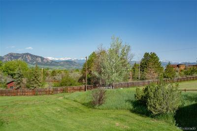 Boulder CO Single Family Home Active: $1,100,000