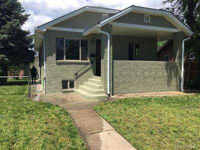 Denver Single Family Home Active: 3715 North Vine Street