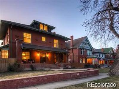 Denver Single Family Home Active: 1521 North Steele Street