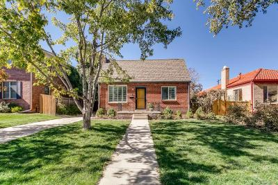 Denver Single Family Home Under Contract: 741 Ivanhoe Street