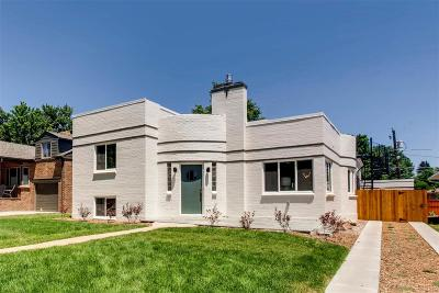 Denver CO Single Family Home Active: $1,050,000
