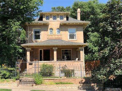 Denver Single Family Home Active: 646 Clarkson Street #648