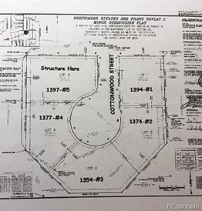 Broomfield County Residential Lots & Land Active: 1394 Cottonwood Street