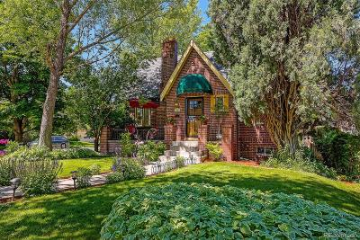 Denver Single Family Home Active: 1401 Dahlia Street