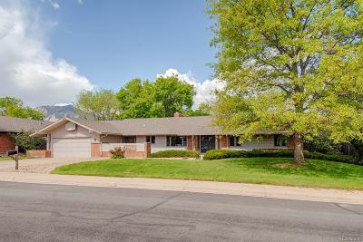 Boulder Single Family Home Active: 385 Erie Drive