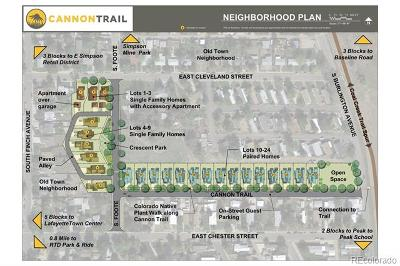 Lafayette Residential Lots & Land Active: 700 East Cleveland Street