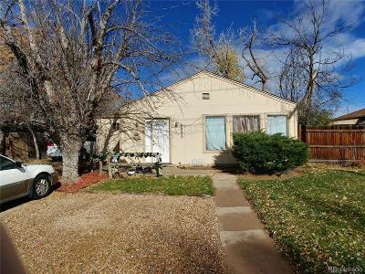 Denver Single Family Home Active: 2275 West Exposition Avenue